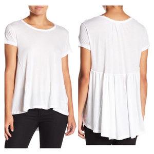 Free People NWT White Flowy Hi Lo T-shirt XS